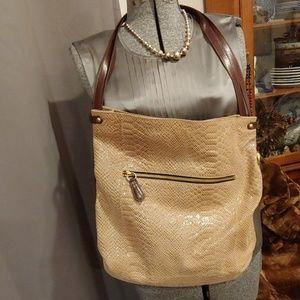 orYANY Snake embossed Leather bag